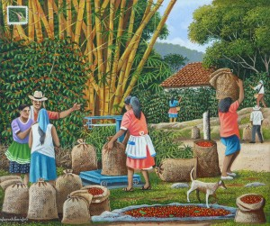 Edmundo Otoniel Mejia - Weighing the Coffee Beans